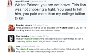 Twitter reacts to Palmer's involvement in the killing of Cecil (Image Courtesy of the  BBC)
