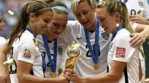 Four Members of the Women's World Cup Team including Carly Lloyd and Abby Wambach (Image Courtesy of BBC)
