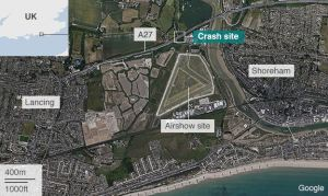 Location of the crash (Image Courtesy of BBC)