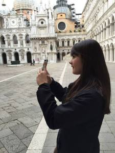 Elinor in Venice in 2014.