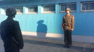 North Koreans at DMZ