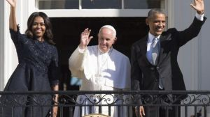 Pope Francis with the President and First Lady