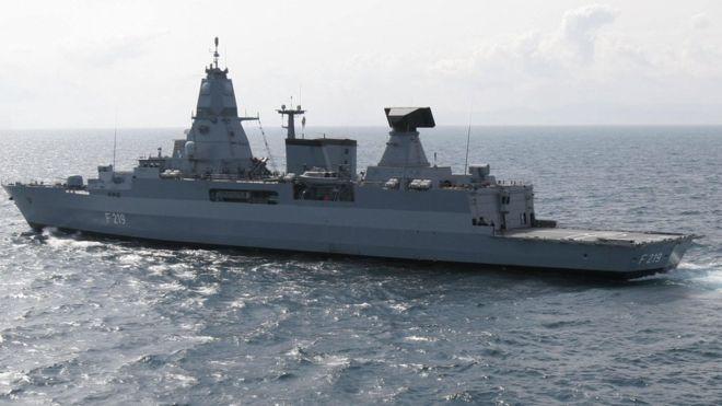 German frigate Sachsen