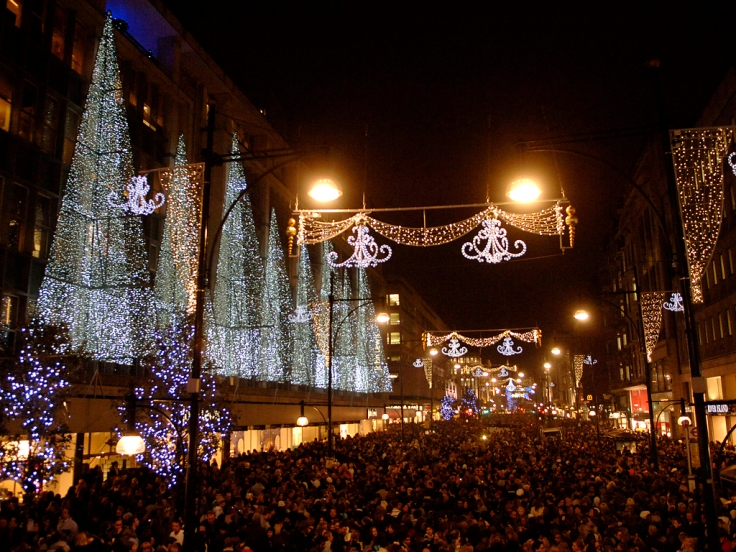The Oxford Street Christmas lights in London