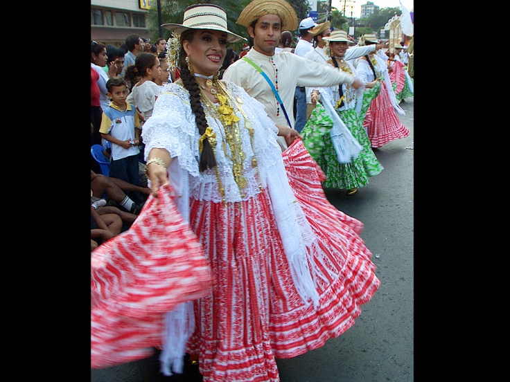 PANAMANIANS WEAR TRADITIONAL CLOTHES IN HOLIDAY CELEBRATION.
